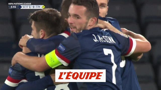 Le but d'Ecosse - République tchèque - Foot - L. nations