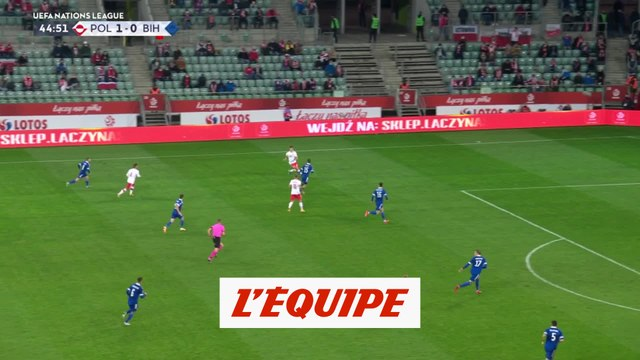 Les buts de Pologne-Bosnie-Herzégovine - Foot - Ligue des nations