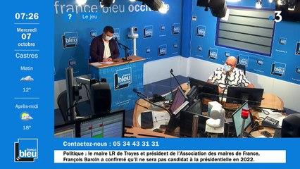 La matinale de France Bleu Occitanie du 07/10/2020