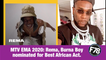 F78NEWS: MTV EMA 2020: Rema, Burna Boy nominated for Best African Act.