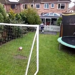 Sam Ford completing his crossbar challenge for Portsmouth Down Syndrome Association