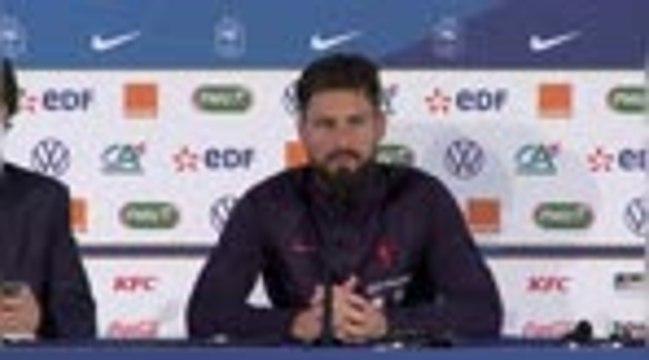 "Amical - Giroud : ""Henry ? On va y aller étape par étape..."""