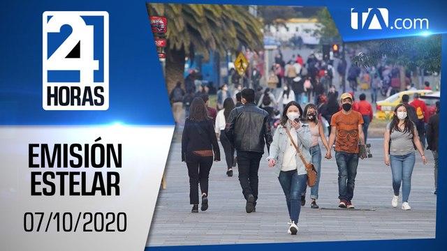 Noticias Ecuador: Noticiero 24 Horas, 07/10/2020 (Emisión Estelar)