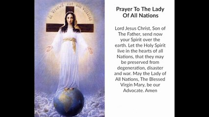 Prayer to the Lady of All Nations