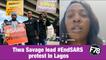 F78NEWS: Tiwa Savage lead #EndSARS protest in Lagos