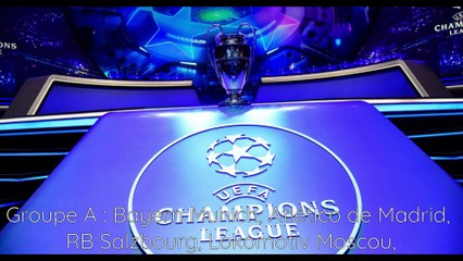 Les groupes de la ligue des champions 2020/2021