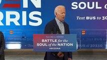 Joe Biden We have never ever, ever, ever, ever quit