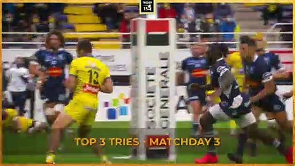 TOP 3 Tries - Matchday 3 - TOP 14 - Season 20/21