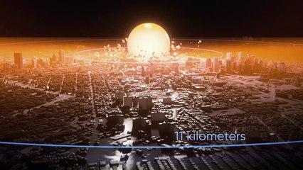 Une simulation d'une explosion nucléaire dans une grande ville de plus de 4 millions d'habitants