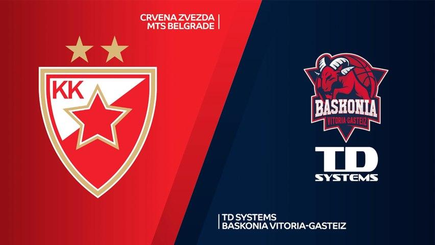 Crvena Zvezda mts Belgrade - TD Systems Baskonia Vitoria-Gasteiz Highlights | EuroLeague, RS Round 2