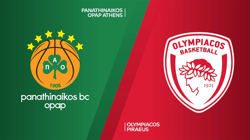 Panathinaikos OPAP Athens - Olympiacos Piraeus Highlights | Turkish Airlines EuroLeague, RS Round 2