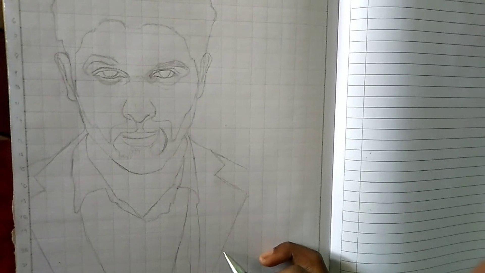How to draw Allu Arjun outline draw   Jackson Nayak