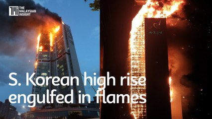 South Korean high rise engulfed in flames