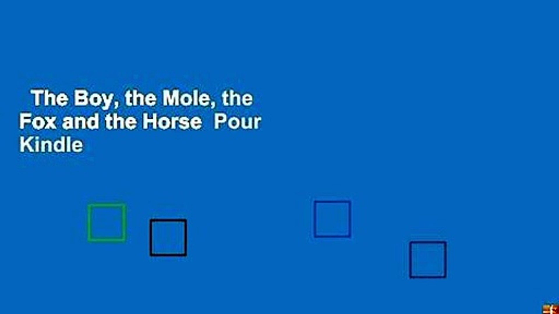 The Boy The Mole The Fox And The Horse Pour Kindle Video Dailymotion