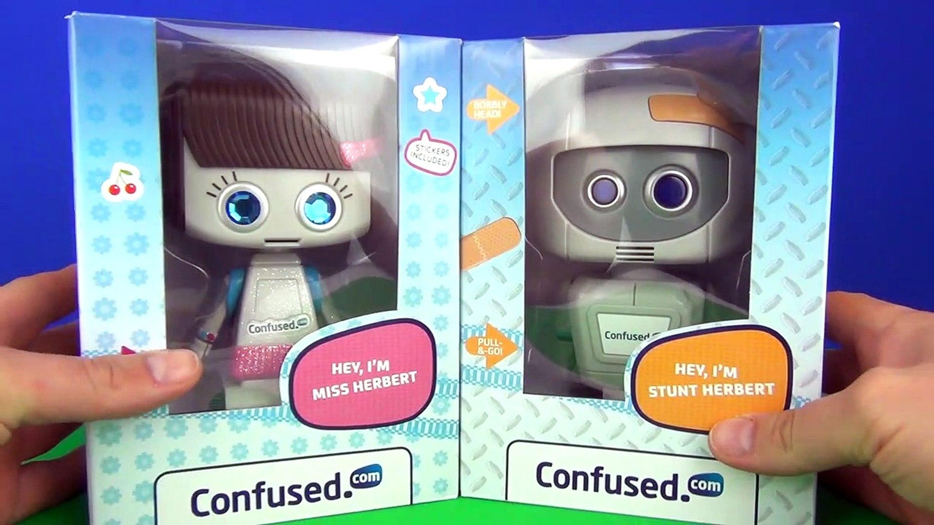 Confused.com Insurance Stunt Herbert & Miss Herbert Robot Toys Unboxing Toy Review TV