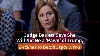 Judge Barrett Talks Trump
