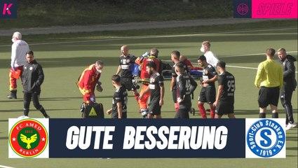 Schwere Verletzung überschattet Pokalfight   FC Amed - SC Staaken (2. Runde, Pokal)