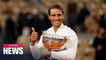 Nadal claims victory over Djokovic at French Open; wins 20th Slam title