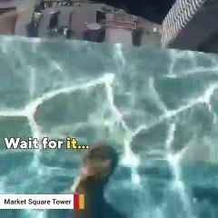 This swimming pool is not for the faint of heart