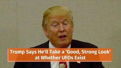 Trump Talks More On Aliens