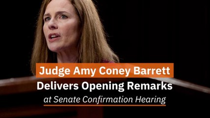 The Opening Remarks Of Amy Coney Barrett
