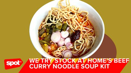 How to Prepare Stock at Home's Beef Curry Noodle Soup Kit