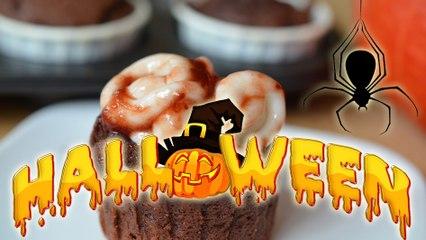 Cupcakes sanglants  à la cervelle  pour Halloween