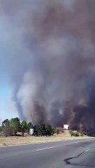 Incendios en Córdoba: el fuego llegó muy cerca de la autopista a Carlos Paz y de una estación de servicio