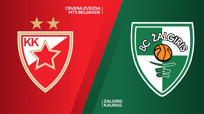 Crvena Zvezda mts Belgrade - Zalgiris Kaunas Highlights | EuroLeague, RS Round 3