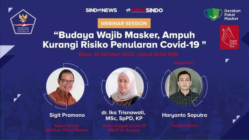 Webinar BNPB: Budaya Wajib Masker, Ampuh Kurangi Risiko Penularan Covid-19