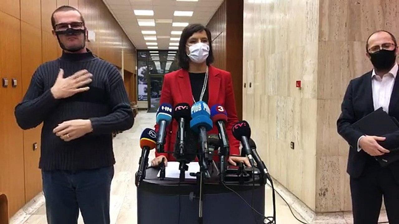 ZÁZNAM: Brífing podpredsedníčky vlády V. Remišovej