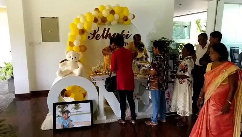 Sethuki 1st Birthday Cake Distribution