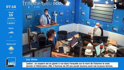 La matinale de France Bleu Occitanie du 15/10/2020