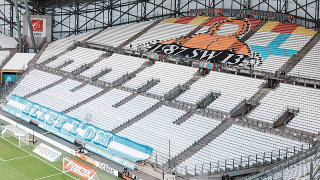 Le soutien des virages de l'Orange Vélodrome