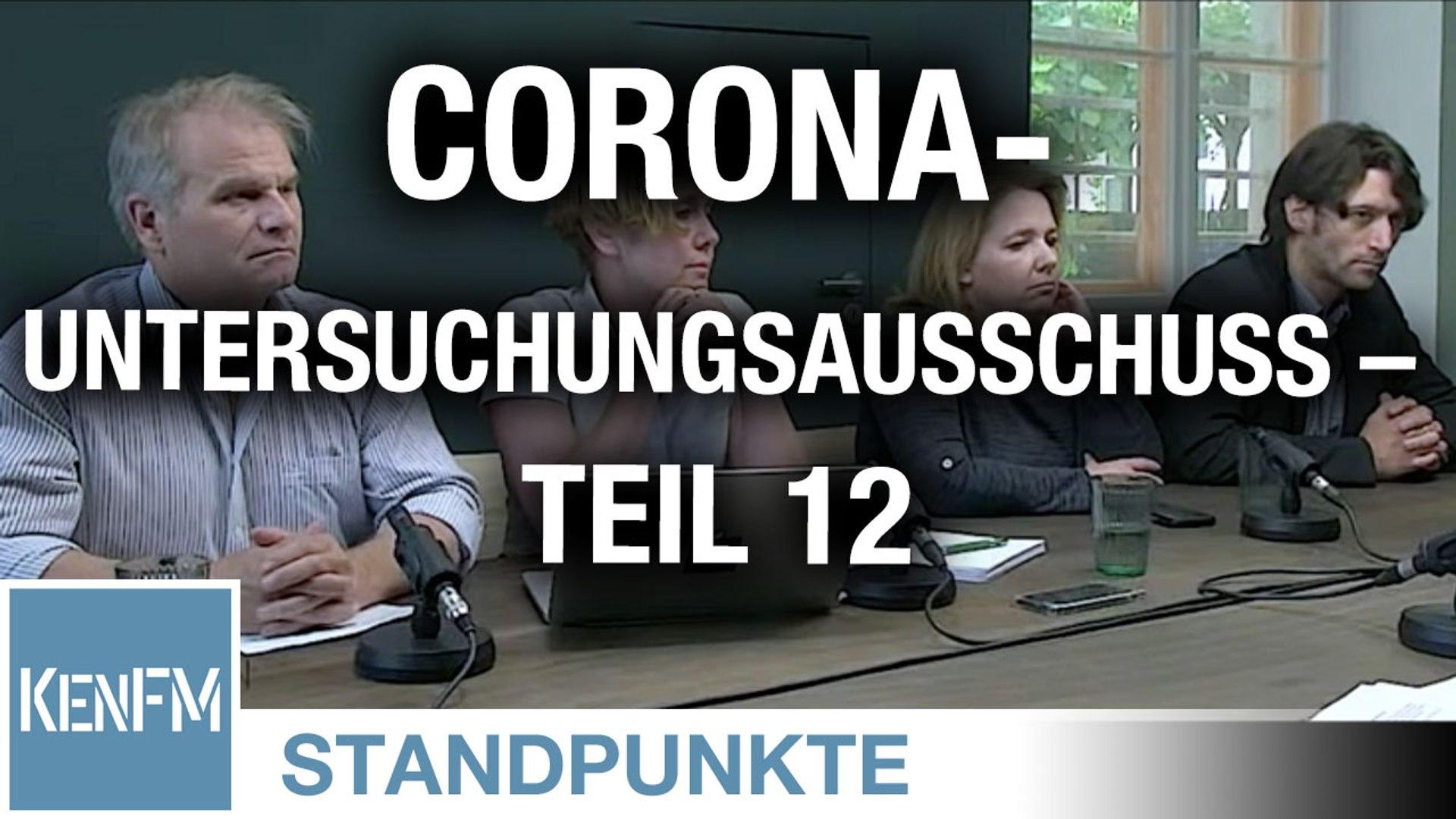 Corona-Untersuchungsausschuss – Teil 12