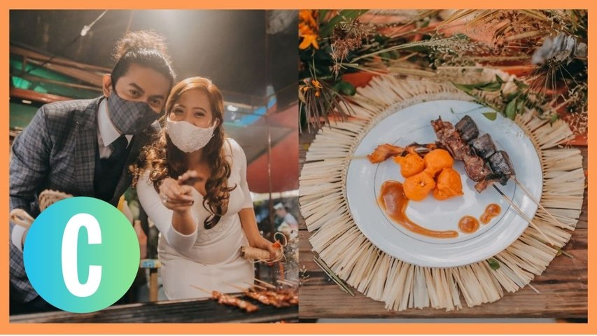 This Cute Couple Served Isaw + Tokneneng At Their Wedding Reception