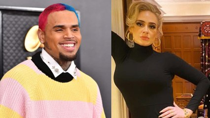 Rumor Has It Chris Brown Was Seen Entering Adele's London Home in the Middle of the Night...