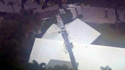 Bodycam captures moment crane falls on home