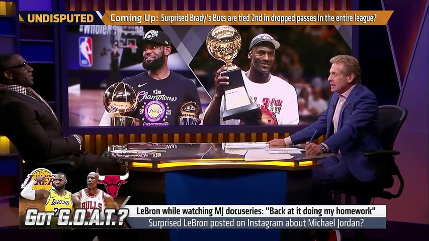 LeBron studying The Last Dance is admitting he's not as good as Michael Jordan