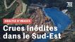 Crues dans les Alpes-Maritimes : les vidéos et les données satellite dévoilent une catastrophe inédite