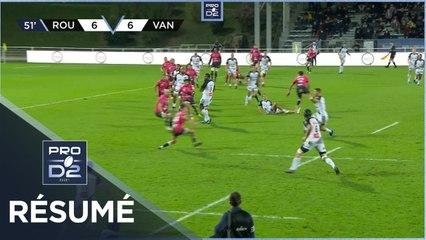 PRO D2 - Résumé Rouen Normandie Rugby-RC Vannes: 19-23 - J6 - Saison 2020/2021