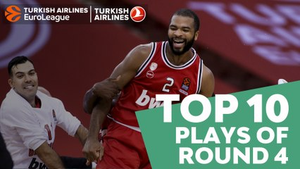 Turkish Airlines EuroLeague Regular Season Round 4 Top 10 Plays
