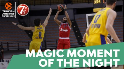 7DAYS Magic Moment of the Night: Aaron Harrison, Olympiacos Piraeus