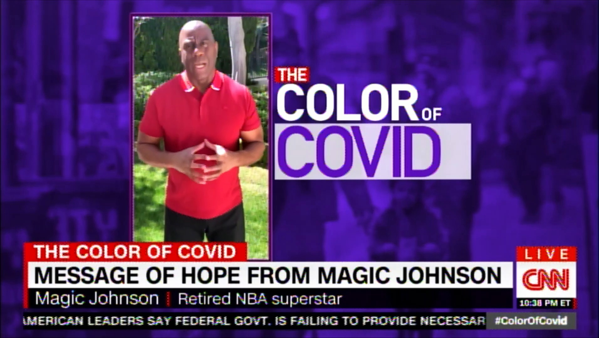 Message of Hope from Magic Johnson. #COVID19 #CORONAVIRUS #CNN #News #MagicJohnson