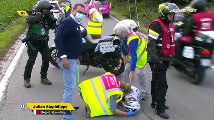 Tour des Flandres - La terrible chute d'Alaphilippe