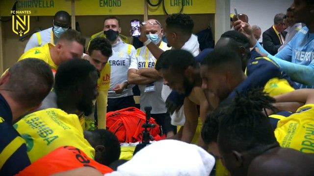 FC Nantes - Stade Brestois : la joie du vestiaire