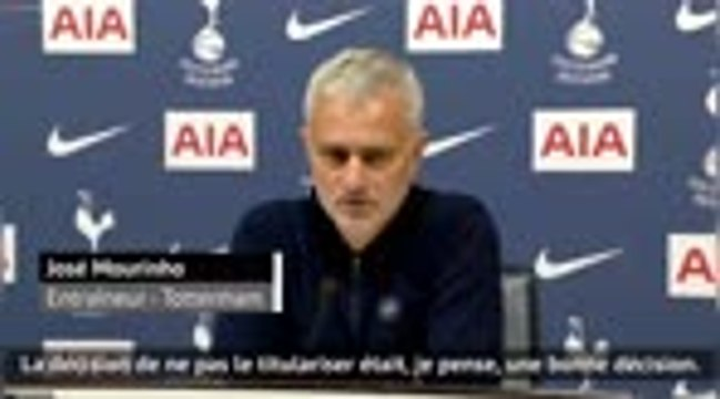 "Tottenham - Mourinho : ""Bale doit gagner sa place"""