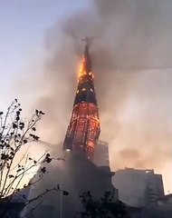Iglesia quemada en Chile