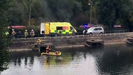 Emergency services search Daventry Reservoir