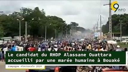 Campagne électorale - Le candidat du RHDP Alassane Ouattara accueilli par une marée humaine à Bouaké